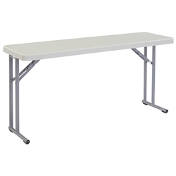 "NPS Lightweight Plastic Folding Training Table - 18""W x 61""L  (National Public Seating NPS-BT1860)"