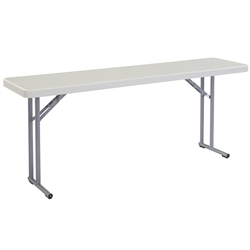 "NPS Lightweight Plastic Folding Training Table - 18""W x 72""L  (National Public Seating NPS-BT1872)"