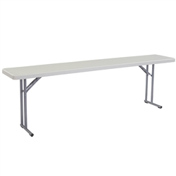"NPS Lightweight Plastic Folding Training Table - 18""W x 96""L  (National Public Seating NPS-BT1896)"