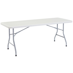 "NPS Lightweight Plastic Top Folding Table - 30""W x 72""L  (National Public Seating NPS-BT3072)"
