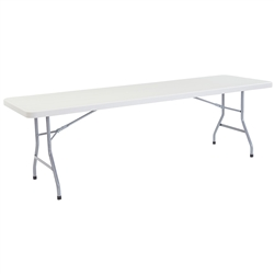 "NPS Lightweight Plastic Top Folding Table - 30""W x 96""L  (National Public Seating NPS-BT3096)"