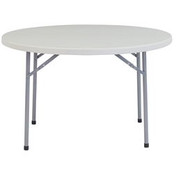 "NPS Round Plastic Top Folding Table 48"" Round  (National Public Seating NPS-BT48R)"
