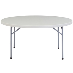 "NPS Round Plastic Top Folding Table 60"" Round  (National Public Seating NPS-BT60R)"