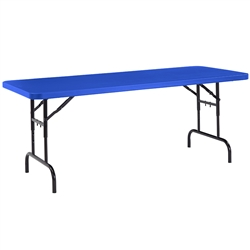 "NPS Colorful Plastic Folding Table with Adjustable Height - 30""W x 72""L  (National Public Seating NPS-BTA3072)"