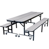 "NPS Mobile Convertible Bench Unit - 96""L x 29""W <br>(National Public Seating NPS-CBG96)"