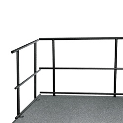 "NPS 30""W Guard Rails for Stages  (National Public Seating NPS-GRS30)"