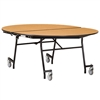 "NPS Mobile Cafeteria Oval Table Shape Unit - 72"" W x 60"" L (National Public Seating NPS-MT72V)"