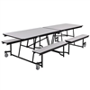 "NPS Mobile Cafeteria Table - 30"" W x 10' L - Seats 8-12 (National Public Seating NPS-MTFB10)"