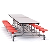 "NPS Mobile Cafeteria Table - 30"" W x 12' L - 16 Stools(National Public Seating NPS-MTS1216)"