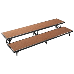 "NPS 2 Level Riser-18""W x 96""L x 8""H and 18""W x 96""L x 16""H Hardboard  (National Public Seating NPS-RS2LHB)"