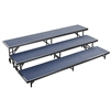 "NPS 3 Level Riser - 18""W x 96""L x 8""H and 18""W x 96""L x 16""H and 18""W x 96""L x 24""H Carpet  (National Public Seating NPS-RS3LC)"