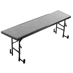 "NPS Tapered Riser - Carpet Deck - 18""W x 72""L x 24""H"