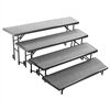 "NPS 4 Level Tapered Riser - 18""Wx60""Lx8""H and 18""Wx66""Lx16""H and 18""Wx72""Lx24""H and 18W""x78""Lx32""H Hardboard  (National Public Seating NPS-RT4LHB)"
