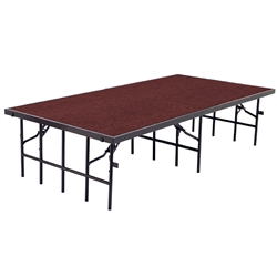 "NPS Portable Stage with Carpet - 36""W x 96""L x 32""H  (National Public Seating NPS-S3632C)"