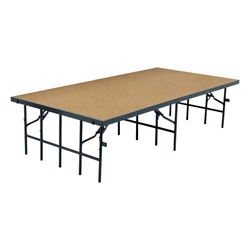 "NPS Portable Stage with Hardboard - 36""W x 96""L x 8""H  (National Public Seating NPS-S368HB)"