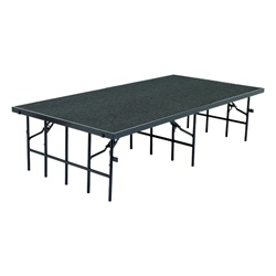 "NPS Portable Stage with Carpet - 48""W x 96""L x 16""H  (National Public Seating NPS-S4816C)"