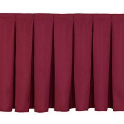 NPS Box-Pleat Skirting for 16 inch H Stage  (National Public Seating NPS-SB16)