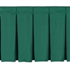 NPS Box-Pleat Skirting for 24 inch H Stage  (National Public Seating NPS-SB24)