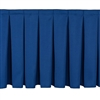 NPS Box-Pleat Skirting for 8 inch H Stage  (National Public Seating NPS-SB8)
