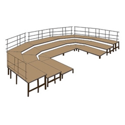 NPS Stage configuration includes three sets of SST48HB & four sets of SPST48HB & guard rails <br> (National Public Seating NPS-SBRC48HB)