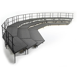 NPS Stage configuration includes three sets of SST36C & four sets of SPST36C & guard rails <br> (National Public Seating NPS-SCRC36C)