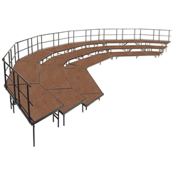 NPS Stage configuration include three sets of SST36HB & four sets of SPST36HB & guard rails <br> (National Public Seating NPS-SCRC36HB)