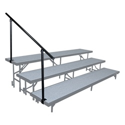 "NPS Side Guard Rails for Standing Risers - 4' 9 3/4"" X 2' 6 7/8""  (National Public Seating NPS-SGR3L)"