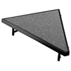 "NPS Stage Pie unit with Carpet for - 36""W x 8""H - Stage Units  (National Public Seating NPS-SP368C)"
