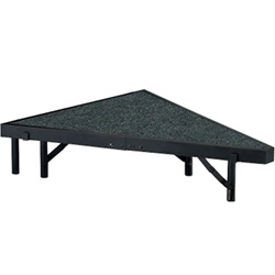 "NPS Stage Pie unit with Carpet for - 48""W x 8""H - Stage Units  (National Public Seating NPS-SP488C)"