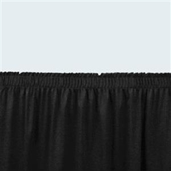 "NPS Shirred Stage Skirt for 24"" Stage - 24"" x 96""L (National Public Seating NPS-SS24-96)"