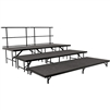 NPS Portable Seated Riser - Carpet Deck - 3-Tier - 8'W x 12'L x 2'H <br> (National Public Seating NPS-SST48C)