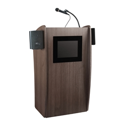 Oklahoma Sound The Vision Lectern with LCD Screen and Sound System<br> (Oklahoma Sound OKL-612S)