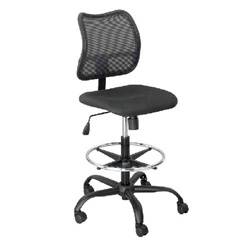 Safco Vue Extended Height Mesh Chair - Black  (Safco SAF-3395)