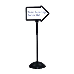 Safco Write Way Directional Sign - Black  (Safco SAF-4173)