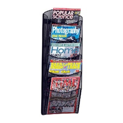 Safco 5 Pocket Onyx Magazine Rack - Black  (Safco SAF-5578)