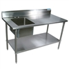 "Shain 250495 Stainless Steel Prep Sink W/ Galvanized Base - 60"" W (Shain SHA-250495)"