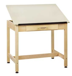 "Shain Art/Drafting Table with Drawer (30"" H)  (Shain SHA-DT-1A30)"