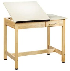"Shain Split-Top Drafting Table w/ Drawer (30"" H)  (Shain SHA-DT-2SA30)"