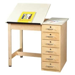 "Shain Art/Drafting Table w/ 6 Drawer - 36""W x 24""D (Shain SHA-DT-4A)"