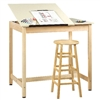 Shain Split-Top Art & Drafting Table w/o Board Storage  (Shain SHA-DT-60SA)