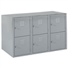 "Shain Metal Base 6 Vertical Lockers - 36""W X 21""D (Shain SHA-LB-6)"