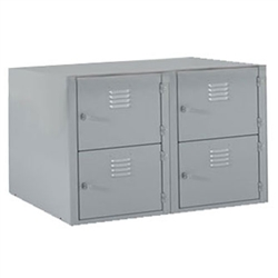 "Shain Metal Base 4 Horizontal Lockers - 36""W X 21""D (Shain SHA-LB-B4)"