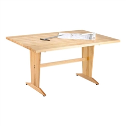 Shain Extra Large Planning Table w/ Maple Top (Shain SHA-PT-7248M)