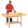 "Shain Wood Workbench w/ 1-3/4"" Maple Top - 72""W x 36""D (Shain SHA-W-7236L)"