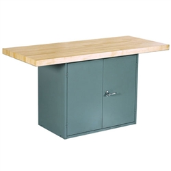 Shain Two-Station Workbench w/o Vises - Double Door Storage (Shain SHA-WBD2-0V)