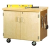 Shain Mobile Storage Cabinet w/ Maple Top - Two Doors (Shain SHA-WMSC-3135)