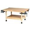 Shain Wooden Four Station Student Workbench w/ 2 Vises (Shain SHA-WW4-2V)
