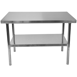 "Shain Stainless Steel Work Table - 48""W x 30""D x 35""H (Shain SHA-XS4830)"