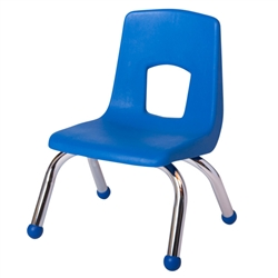 "SchoolOutlet Preschool Chair with Chrome Legs 10"" Seat Height"