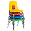 "SchoolOutlet Preschool Chair with Chrome Legs 14"" Seat Height"